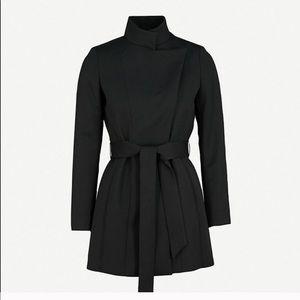 Reiss Luca Wool Black Coat